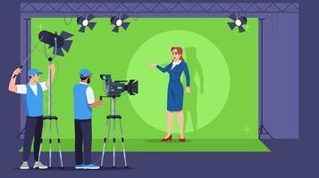 broadcasting semi piatta illustrazione vettoriale