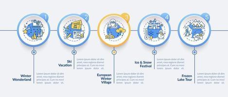 modello di infografica vacanza invernale