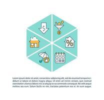 icona di concetto di rifinanziamento di mutuo ipotecario con testo
