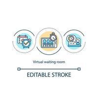 icona del concetto di sala d'attesa virtuale