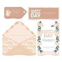 Cartolina d'auguri di festa della mamma floreale di vettore