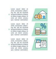 icona di concetto di pagamenti mutuo casa con testo