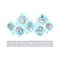 icona del concetto di telemedicina con testo