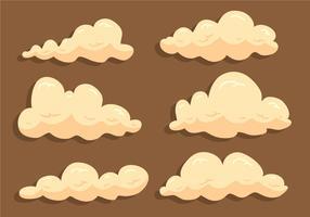 soffice nuvola di polvere vettore