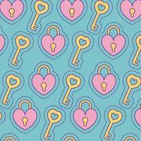lucchetti e chiavi sfondo disegno vettoriale