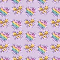 cuori e papillon sfondo disegno vettoriale
