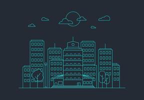 concetto di vita di città vettore
