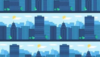 città seamless pattern vettore