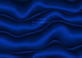 tessuto blu astratto piega trama di seta materiale in velluto satinato o sfondo a forma di onda fluida stile di lusso vettore