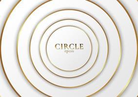 sfondo astratto elegante e moderno design a forma di cerchio bianco vettore