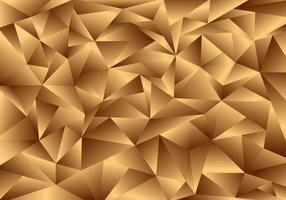 Fondo e struttura dorati del poligono 3d. motivo a basso poli oro. vettore