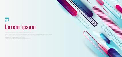 banner web design template in dinamico blu e rosa