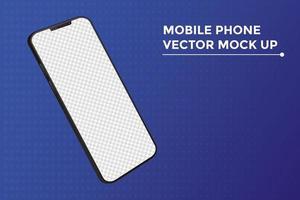 dispositivo di mockup di smartphone in sfondo blu vettore