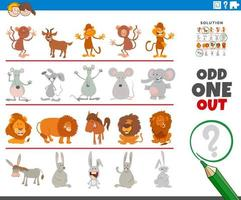 uno strano gioco di immagini con personaggi animali divertenti vettore