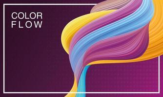 poster del modello di sfondo del flusso di colore vettore