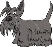 illustrazione del fumetto del cane di razza del terrier scozzese vettore