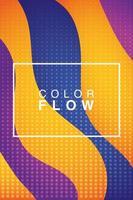 flusso vivido di colori con poster di sfondo cornice rettangolare vettore