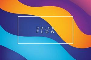 flusso di colori vivaci con sfondo cornice rettangolare vettore