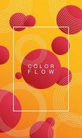 flusso di colore con poster di sfondo cornice rettangolare vettore