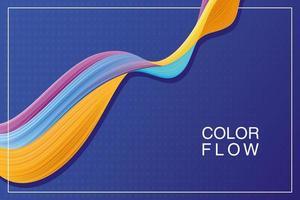 poster di sfondo flusso di colori vivaci vettore