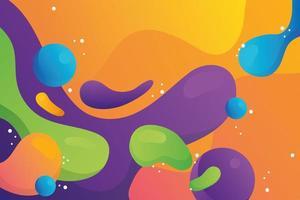 poster modello di sfondo flusso di colore vivido vettore