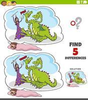 differenze gioco educativo con sogno fantasy vettore
