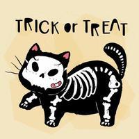 simpatico gatto di halloween vettore