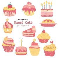 collezione di torte di compleanno in stile vintage
