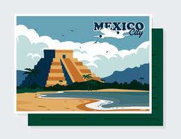 Vettore di cartolina del Messico