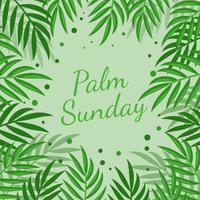 Sfondo di Domenica delle Palme vettore