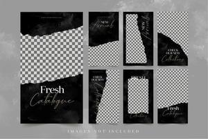 banner di moda per il set di modelli di pubblicità sui social media vettore