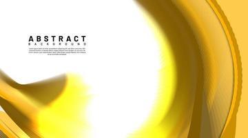 sfondo astratto curva d'oro vettore