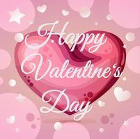 modello di biglietto di auguri calligrafia felice giorno di San Valentino vettore