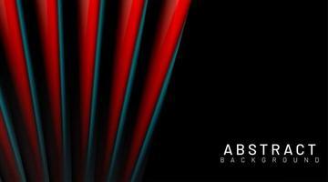 sfondo di forme di ventilatore 3d rosso e nero vettore