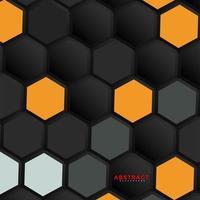 fondo di geometria esagonale di vettore astratto