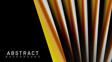 sfondo di forme di tubo 3d giallo arancio vettore