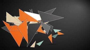 Fondo astratto della composizione in mosaico del triangolo 3D, design in stile basso poli. illustrazione vettoriale. per web, sfondo, ecc. vettore