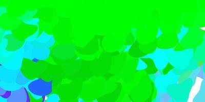 modello vettoriale rosa chiaro, verde con forme astratte.