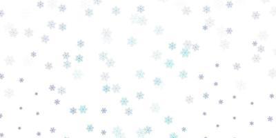 layout naturale vettoriale rosa chiaro, blu con fiori.