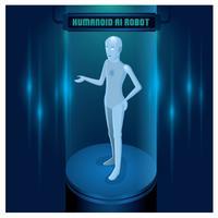 Robot umanoide umano AI