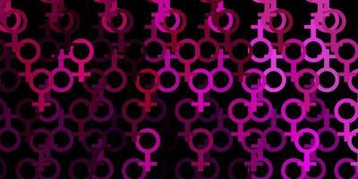 trama vettoriale rosa scuro con simboli religiosi.