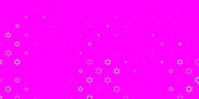 trama vettoriale rosa chiaro con simboli di malattia.