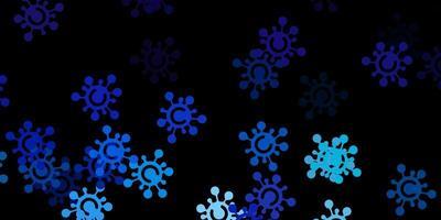 modello vettoriale rosa scuro, blu con segni di influenza.