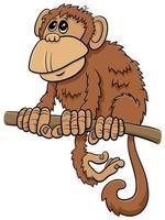 cartone animato scimmia personaggio animale comico vettore