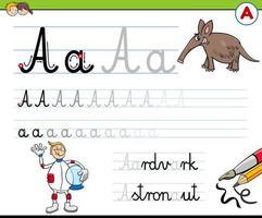 scrivendo la lettera un foglio di lavoro per i bambini vettore