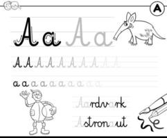 imparare a scrivere la lettera una cartella di lavoro per i bambini vettore