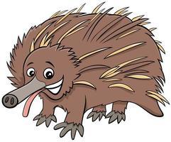 divertente personaggio animale dei cartoni animati di echidna vettore