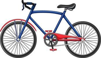 stile cartone animato bicicletta isolato su priorità bassa bianca vettore