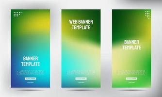 set di banner flyer brochure aziendale roll up offuscata