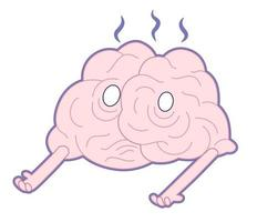sono vivo, collezione di cervelli vettore